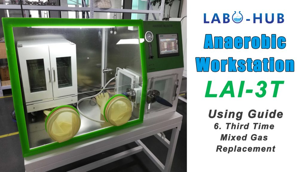 Anaerobic Workstation LAI-3T Using Guide – 6.  Third Time Mixture Gas Replacement