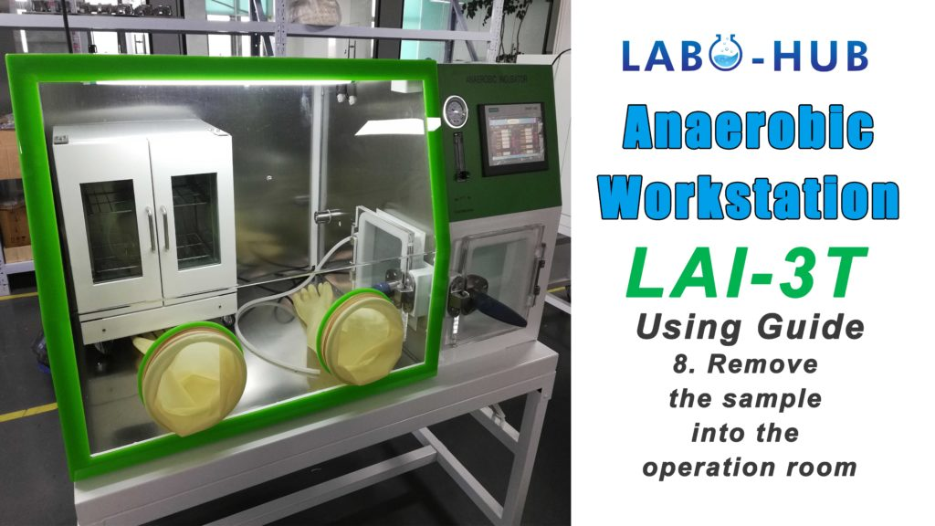 Anaerobic Workstation LAI-3T Using Guide – 8.  Remove the sample into the operation room